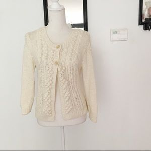 American Eagle Outfitters Beige Cream Cardigan